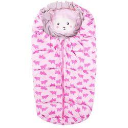 Różowy śpiworek w owieczki
