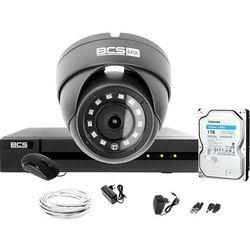 Monitoring Full HD BCS Basic Full HD 2MPx 1TB H265+ 1 x Kamera kopułkowa 2.8mm IR 30m