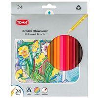Kredki, Kredki ołówkowe trójkątne 24 kolory TOMA