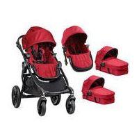 Wózki wielofunkcyjne, W�zek wielofunkcyjny 2w1 City Select Double Baby Jogger + GRATIS (red)
