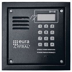 Panel cyfrowy CYFRAL PC-2000RE czarny z czytnikiem RFiD i elektroniką