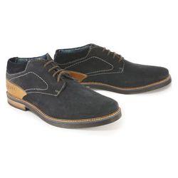 BUGATTI 311-60935-1400 4100 dark blue, półbuty męskie - Granatowy