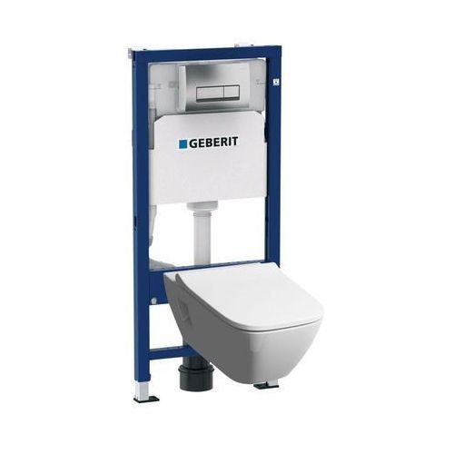 Stelaże i zestawy podtynkowe, Zestaw podtynkowy WC Geberit Unifix Premium bezkołnierzowy z deską wolnoopadającą