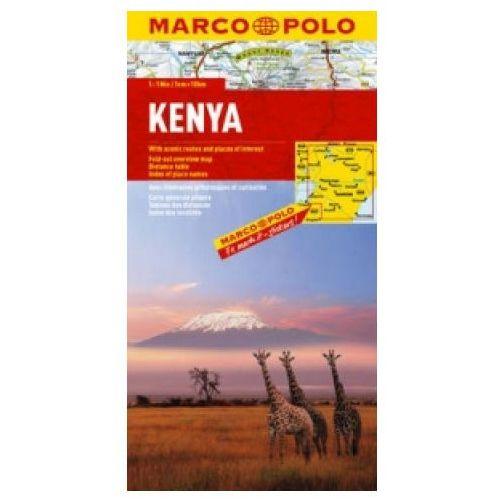 Mapy i atlasy turystyczne, Kenia 1:1 000 000. Mapa samochodowa. Marco Polo (opr. twarda)