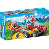 Klocki dla dzieci, Playmobil ACTION Ratownik na quadzie 9130