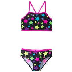Bikini dziewczęce (2 części) bonprix czarny w gwiazdy
