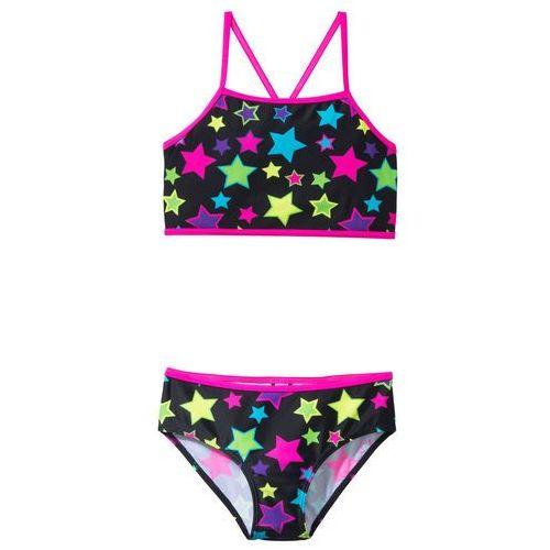 Stroje kąpielowe dla dzieci, Bikini dziewczęce (2 części) bonprix czarny w gwiazdy