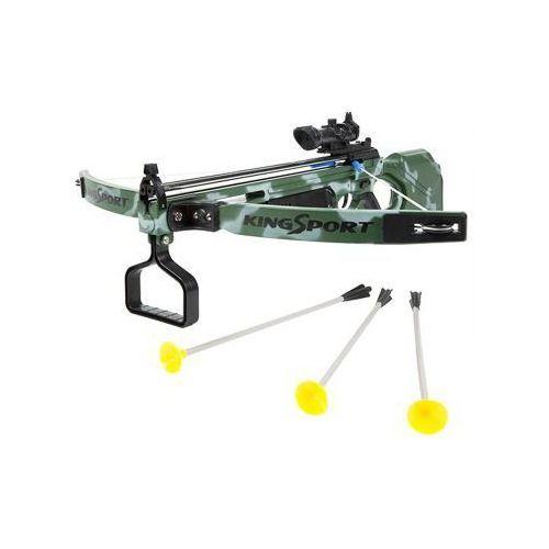 Pozostałe zabawki, Duża (dł. 67cm!) Kusza Sportowa dla Dzieci.... z Celownikiem Laserowym + 3 Strzały.