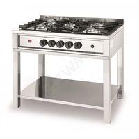Piece i płyty grzejne gastronomiczne, Kuchenka gazowa - 5-palnikowa Kitchen Line na podstawie otwartej Hendi