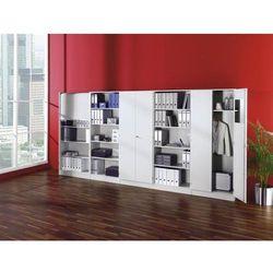 FINO - Regał biurowy, 2 półki, szer. 800 mm, biały. Płyty wiórowe pokryte melami