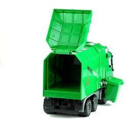 Zielona śmieciarka duża otwierana przypinany kosz