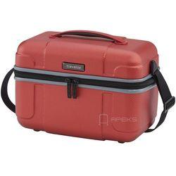 Travelite Vector kuferek podróżny / kosmetyczka twarda 20l / czerwony - koralowy