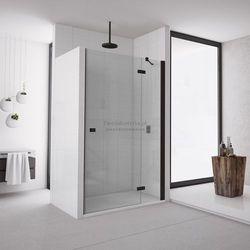 Sanswiss Annea drzwi do wnęki ze ścianką stałą uchylne 110 cm prawe czarne AN13D11000607
