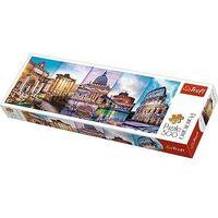 Puzzle, Puzzle Koláž památky Itálie panorama 500 dílků 66x23,7cm v krabici 40x13x4cm