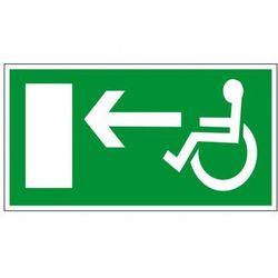 Kierunek drogi ewakuacyjnej dla niepełnosprawnych w lewo