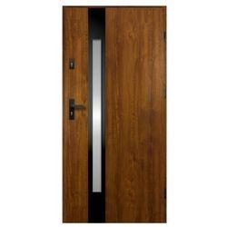 Drzwi zewnętrzne O.K. Doors Temida Black P55 90 prawe złoty dąb