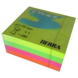 Karteczki samoprzylepne 50x50mm neon