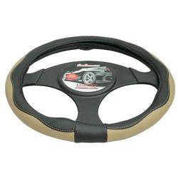 Pokrowiec na kierownicę 37-39,5 Luxury beżowy