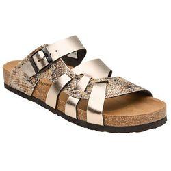 Klapki buty Dr Brinkmann 700991-82 Złote - Złoty ||Multikolor