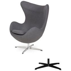 Fotel Jajo EGG CLASSIC - 3 kolory nóżek - wełna - Grafitowy szary