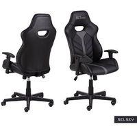Fotele dla graczy, SELSEY Fotel gamingowy Salorno czarno-szary