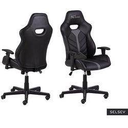SELSEY Fotel gamingowy Salorno czarno-szary