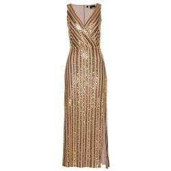 Sukienka wieczorowa z cekinami bonprix złoty