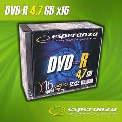 DVD-R Esperanza 4.7GB 16xSpeed (Slim 10szt)- TOWAR ZAMÓWIONY DO 17:00 WYŚLEMY JESZCZE DZISIAJ!!!