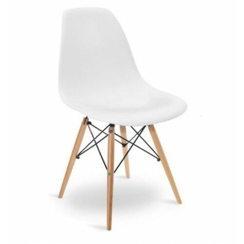 Krzesła, NOWOCZESNE KRZESŁO EAMES DSW BIAŁE EM-01