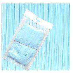 Kurtyna - zasłona na drzwi pastelowa niebieska - 200 x 100 cm