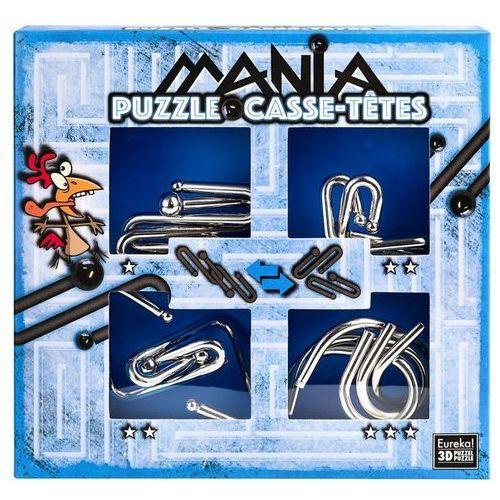 Puzzle, Łamigłowki metalowe 4 sztuki Puzzle-mania zestaw niebieski