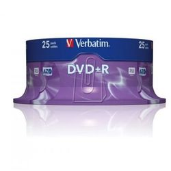 Płyty Verbatim DVD+R 4,7GB 16X Cake 25