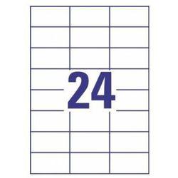 Etykiety uniwersalne AVERY ZWECKFORM trwałe 70 X 37 mm, 24 etykiety/A4 - X06573