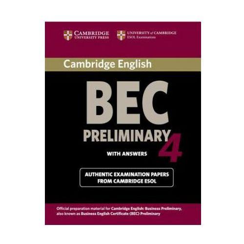 Książki do nauki języka, Cambridge BEC Preliminary 4 Książka Ucznia z Odpowiedziami (opr. miękka)