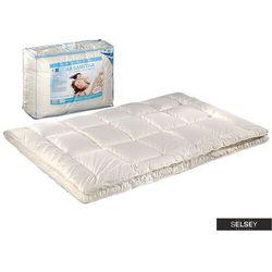 SELSEY Kołdra Aksamitna z poduszkami 50x60 cm kremowa