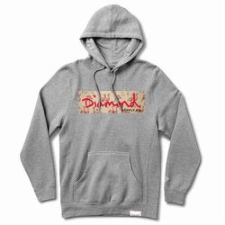 bluza DIAMOND - Flamingo Box Logo Hoodie Heather Grey (HTGR) rozmiar: XL