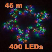 Ozdoby świąteczne, LAMPKI CHOINKOWE 400 LED KOLOROWYCH NA ŚWIĘTA - 400 LED / 45 METRÓW
