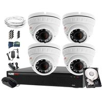 Zestawy monitoringowe, Zestaw do monitoringu: Rejestrator LV-XVR44SE, 4x Kamera LV-AL5M4DV-II, 1TB, akces