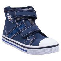 Buty sportowe dla dzieci, Trampki ciemnodżinsowe na rzepy za kostkę 25