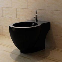 vidaXL Bidet okrągły stojący wysokiej jakości ceramika czarny Darmowa wysyłka i zwroty