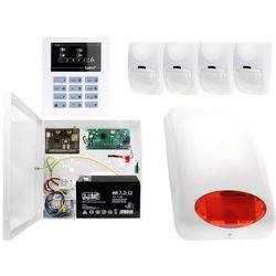 System alarmowy z GSM: Płyta główna CA-5 + Manipulator CA-5 KLED-S + 4x Czujnik ruchu + Moduł GSM + Akcesoria