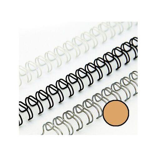 Grzbiety do bindownic, Grzbiety drutowe 8 mm, oprawa do 55 kartek, złote