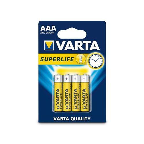 Baterie, 4 x bateria cynkowo-węglowa Varta Superlife R03 AAA (blister)