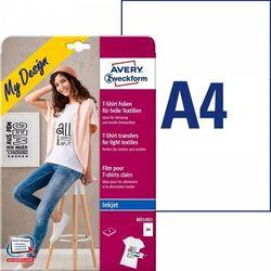 Folie do wprasowywania na jasne tkaniny A4 5ark./op. białe Avery Zweckform