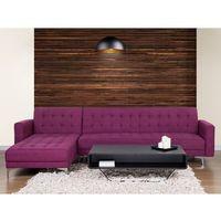 Narożniki, Sofa fioletowa - kanapa - tapicerowana - rozkładana - narożnik - ABERDEEN