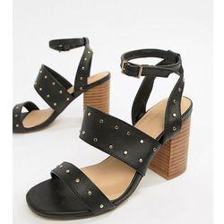 Parklane Studded Heeled Sandals - Black
