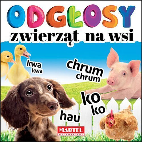 Książki dla dzieci, Odgłosy zwierząt na wsi (opr. kartonowa)