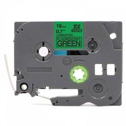 Taśma Brother TZe-D41 18mm x 5m fluorescencyjna zielona czarny nadruk - zamiennik | OSZCZĘDZAJ DO 80% - ZADZWOŃ!
