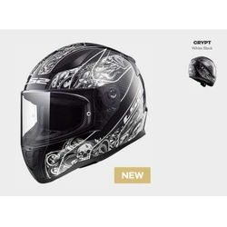 KASK MOTOCYKLOWY KASK LS2 FF353 RAPID CRYPT BLACK WHITE, model 2018!