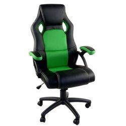 Fotel dla gracza RCA czarno-zielony